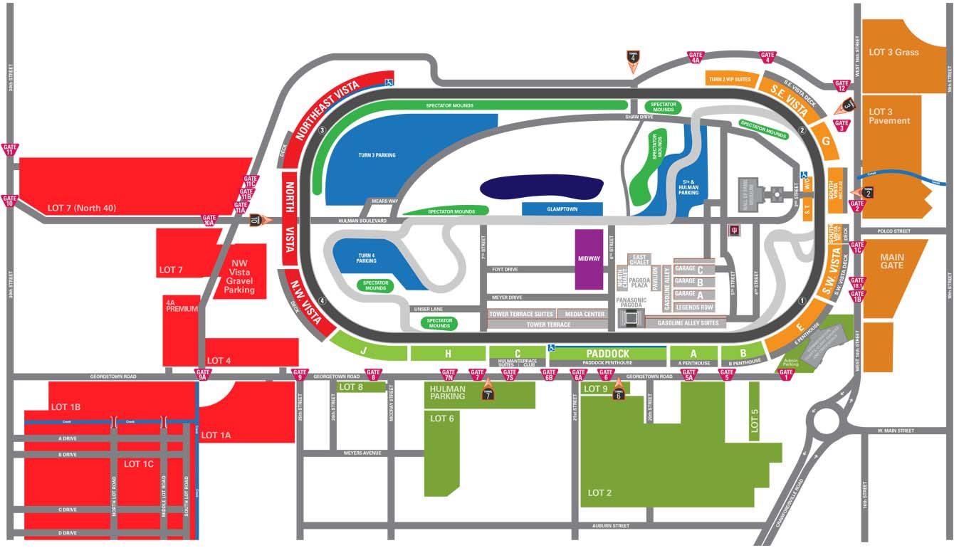 Parking information for indy speedway for Indianapolis motor speedway ticket office