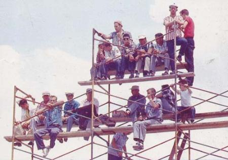 scaffolds during Indy 500